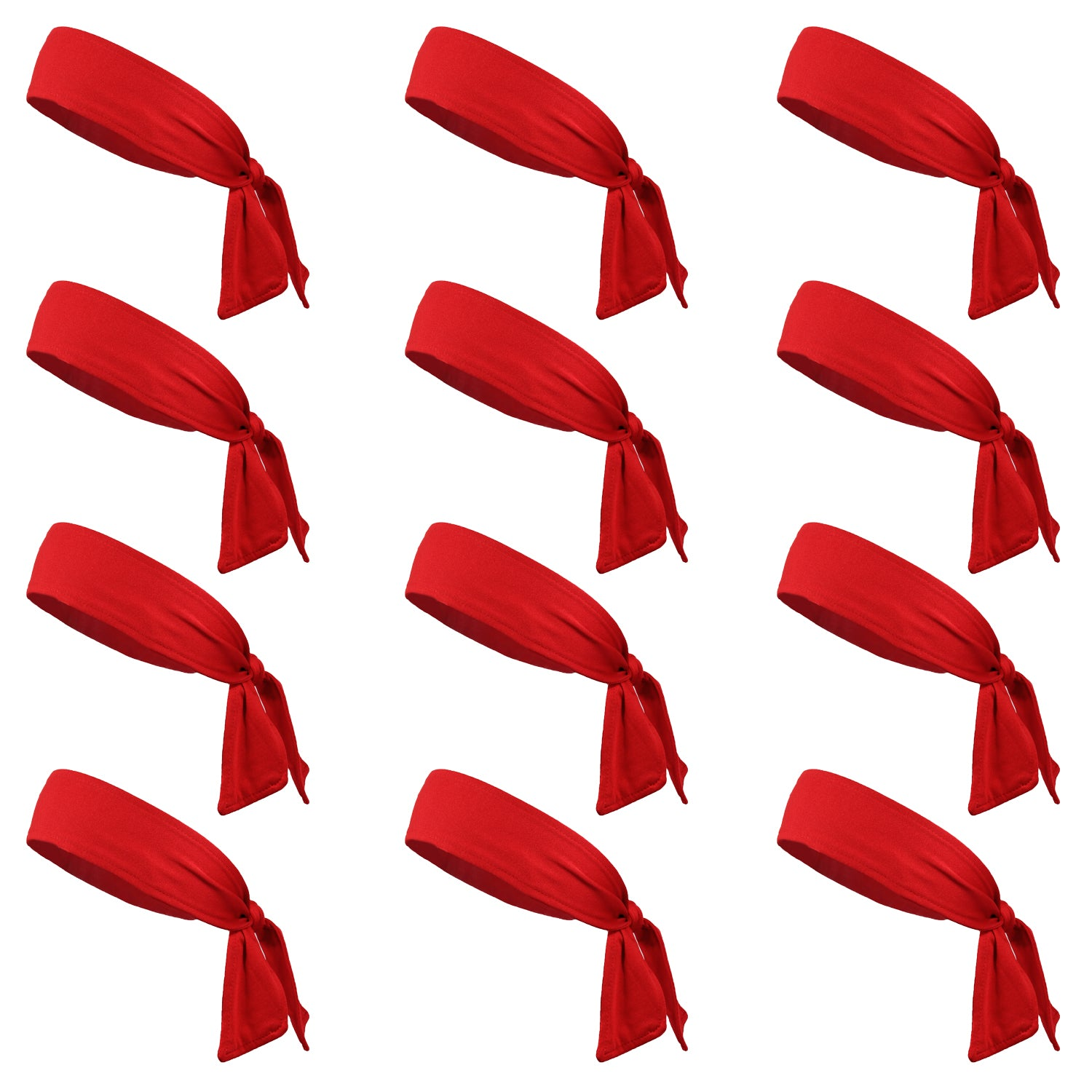 Lot of 12 High Quality Red Cotton Headbands