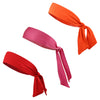 Sports Headbands Tie Back 3 Moisture Wicking Athletic Head Sweat Band Warm Colors