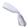 Tie Back Headband Moisture Wicking Athletic Sports Head Band White