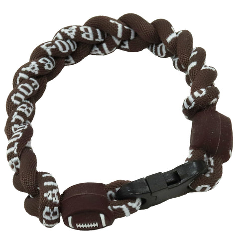 Football Bracelet Titanium Braided Sports Power Wristlet