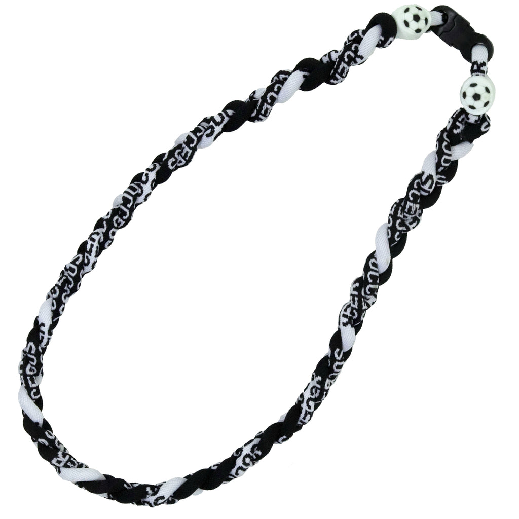 Soccer Necklace Titanium Braided Sports Power Necklace
