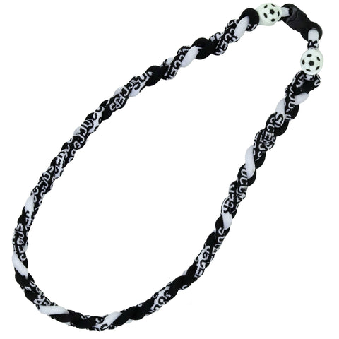 Soccer Bracelet Titanium Braided Sports Power Necklace