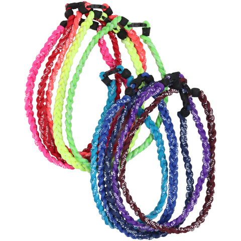 Braided Sports Necklace Softball Necklaces Titanium Power Necklace Many Colors