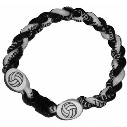 Volleyball Bracelet Titanium Braided Sports Power Wristlet