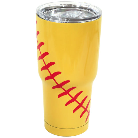Softball Tumbler Large Cup Sports Mug Softball Gifts for Girls Mom Coach Team Players
