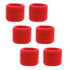 Sweatband for Wrist Terry Cotton Wristbands 6 Red