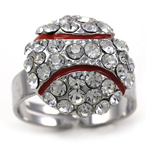 Baseball Ring Rhinestone