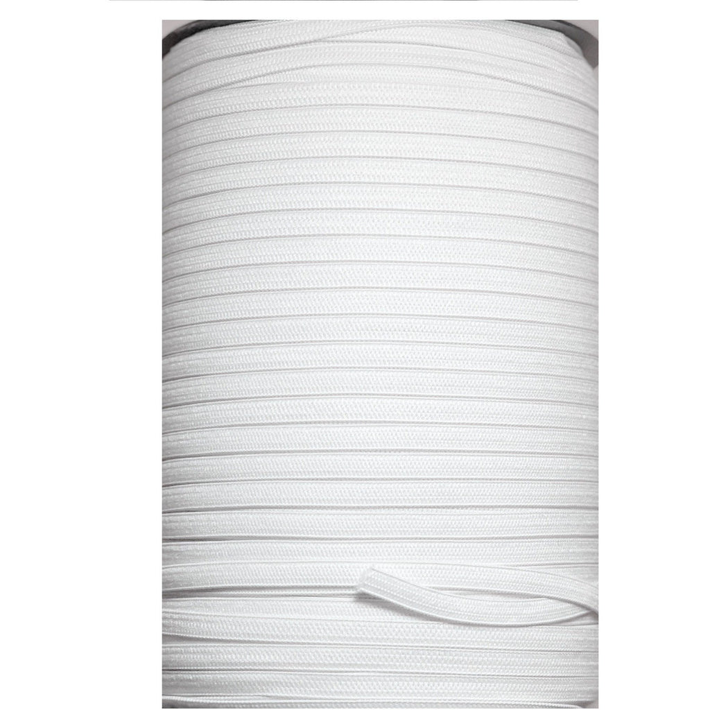 Elastic Rope White Flat Band Stretch Cord 3mm Trim Ribbon Material for Face Mask by the Yard