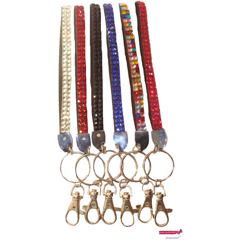 Rhinestone Key Chains Assorted Pack of 6