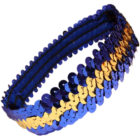Sequin Headband Girls Headbands Sparkly Hair Head Bands Blue Gold