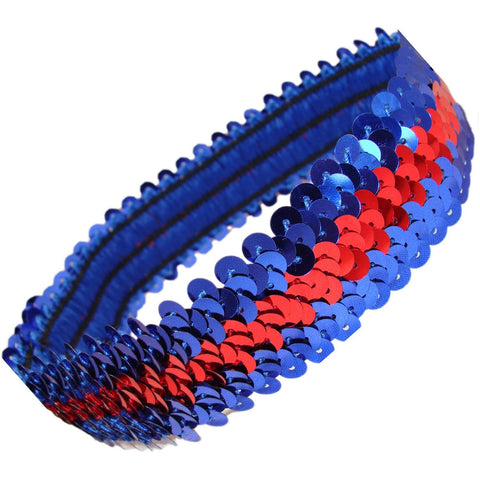 Sequin Headband Girls Headbands Sparkly Hair Head Bands Blue Red