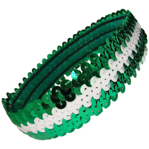 Sequin Headband Girls Headbands Sparkly Hair Head Bands Green White