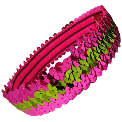 Sequin Headband Girls Headbands Sparkly Hair Head Bands Pink Lime