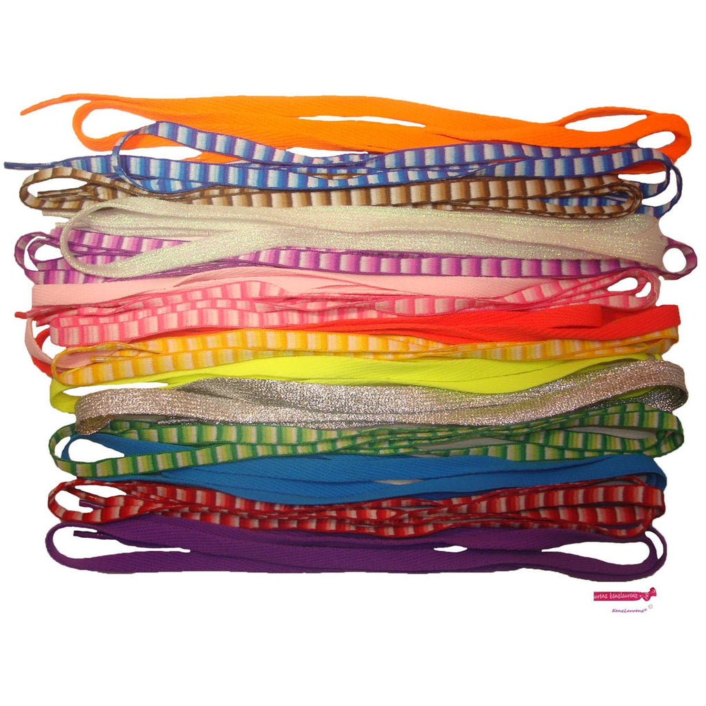 Shoe Laces 6 Pair Assorted