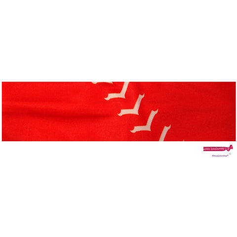 Performance Headband Softball Red