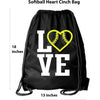 Softball Backpack Cinch Drawstring Bag Softball Gifts for Girls