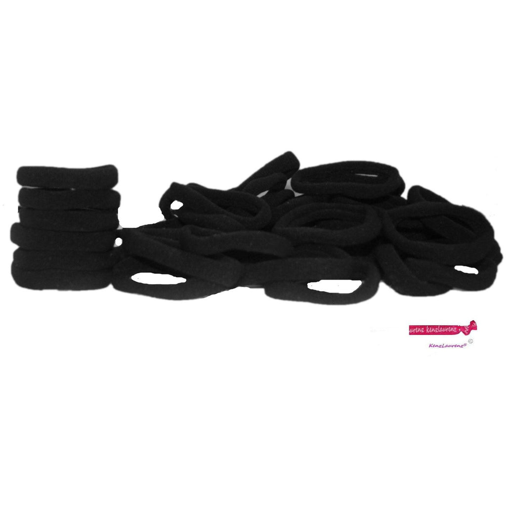 Hair Ties Terry Elastics 100 Pack Black