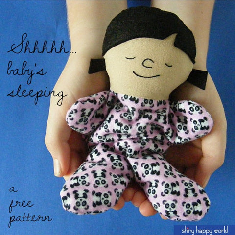 Shiny Happy World Cindy Itty Bitty Sleeping Baby doll pattern link