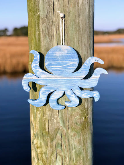 Wooden Octopus Hanging Decoration - FruluWaterproofblanketwithsides