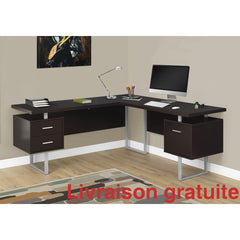 "Bureau 70"" en L ,Cappucino  /  Computer, Office desk - Sports500.com"
