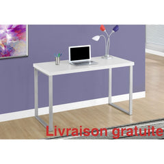 Bureau d'ordinateur blanc 48 pouces  /  Computer Desk - Sports500.com