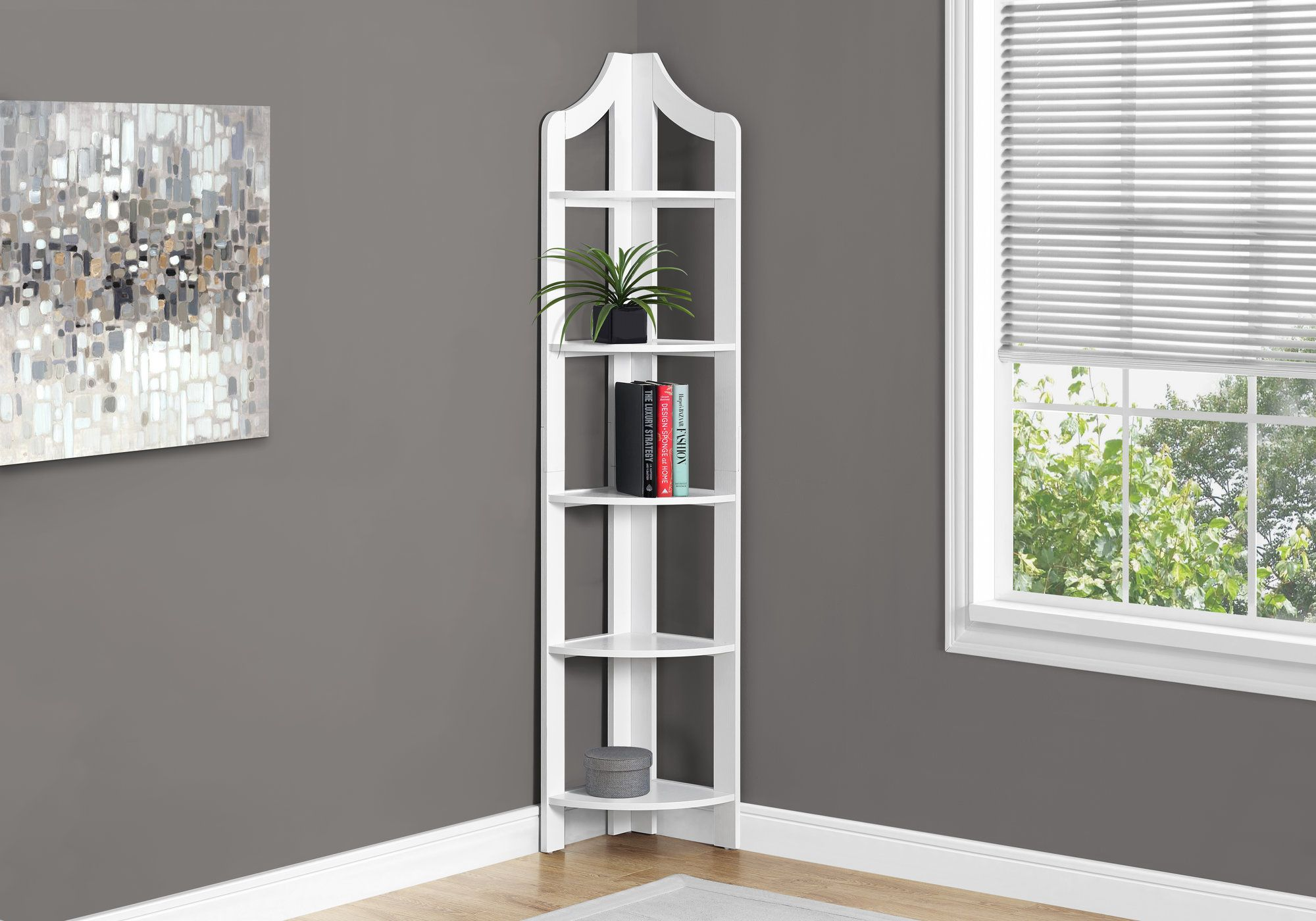 Étagere en coin  /  Corner Bookcase - Sports500.com