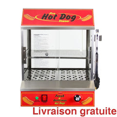 Machine à hot-dogs / BULLSEYE HOT DOG STEAMER - Sports500.com