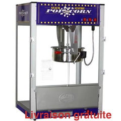 Machine a popcorn 16 onces bleu / Popcorn Machine Tabletop - Sports500.com