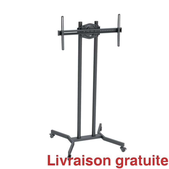 Support à TV sur roulette / Floorstand Bracket on wheels - Sports500.com