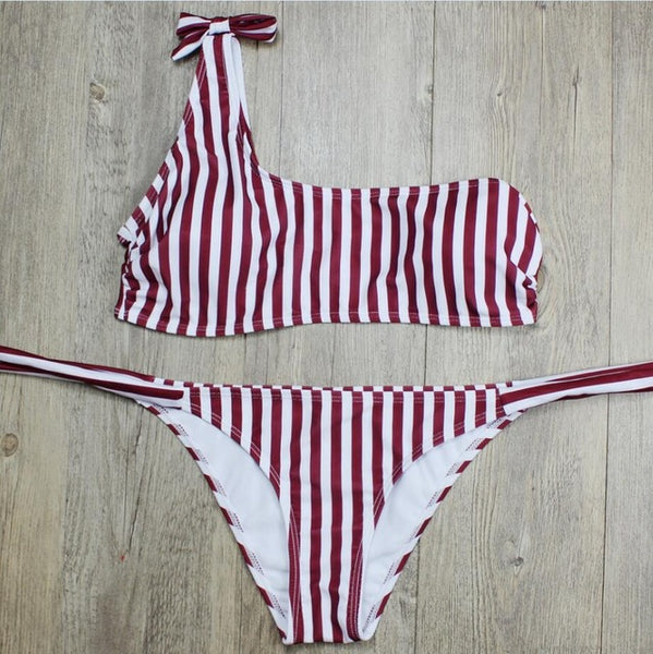 Shoulder Sash Top Bikini - The Project Fashion