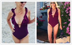 Ruffle One Piece Swimsuit - The Project Fashion