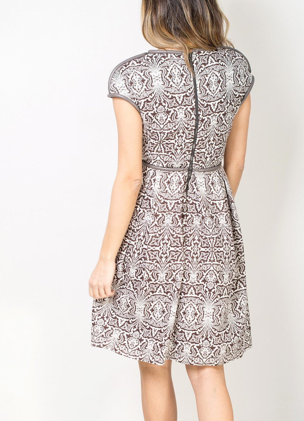 Brown Pattern Dress