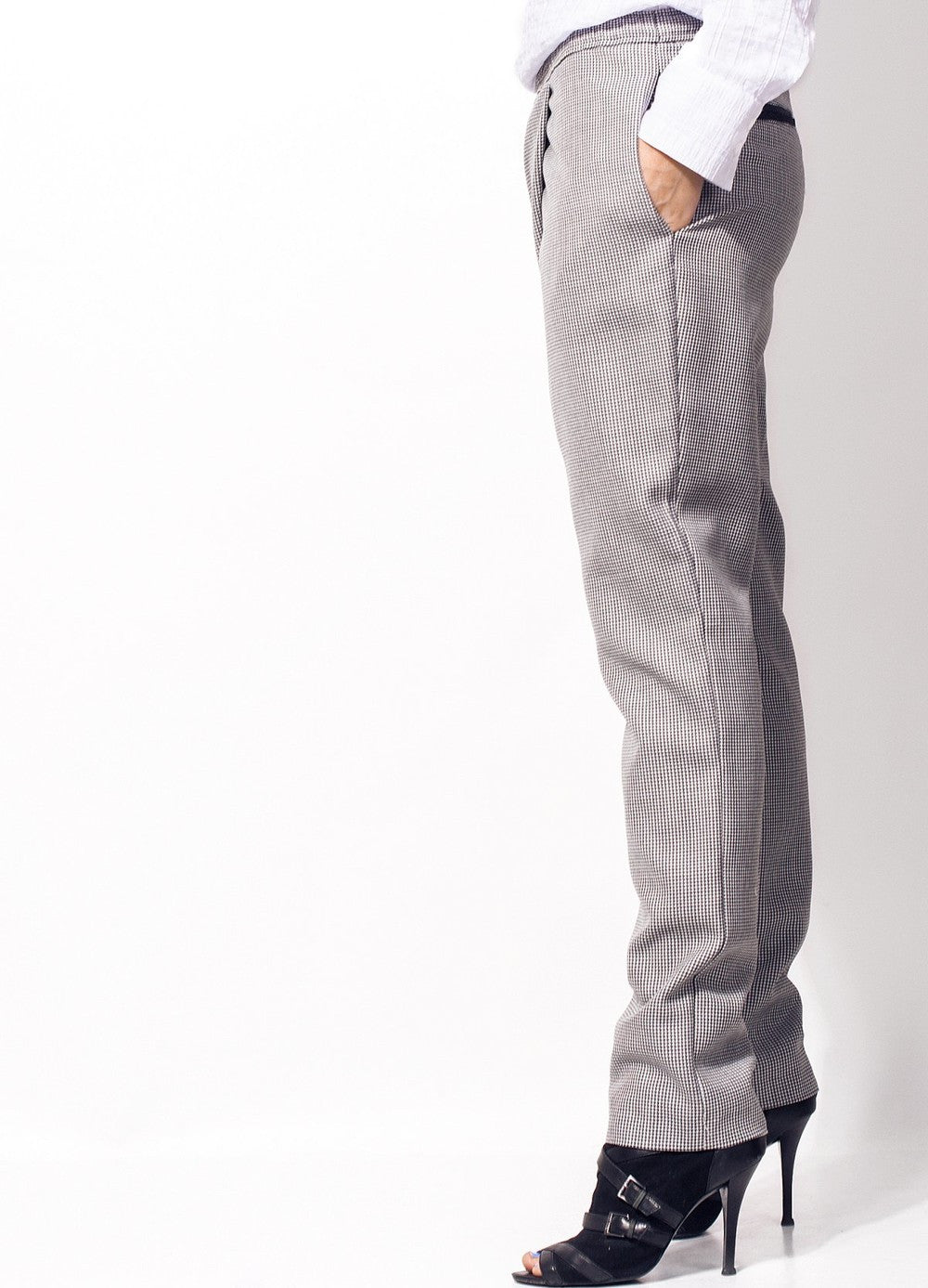 Grey and Black Pants