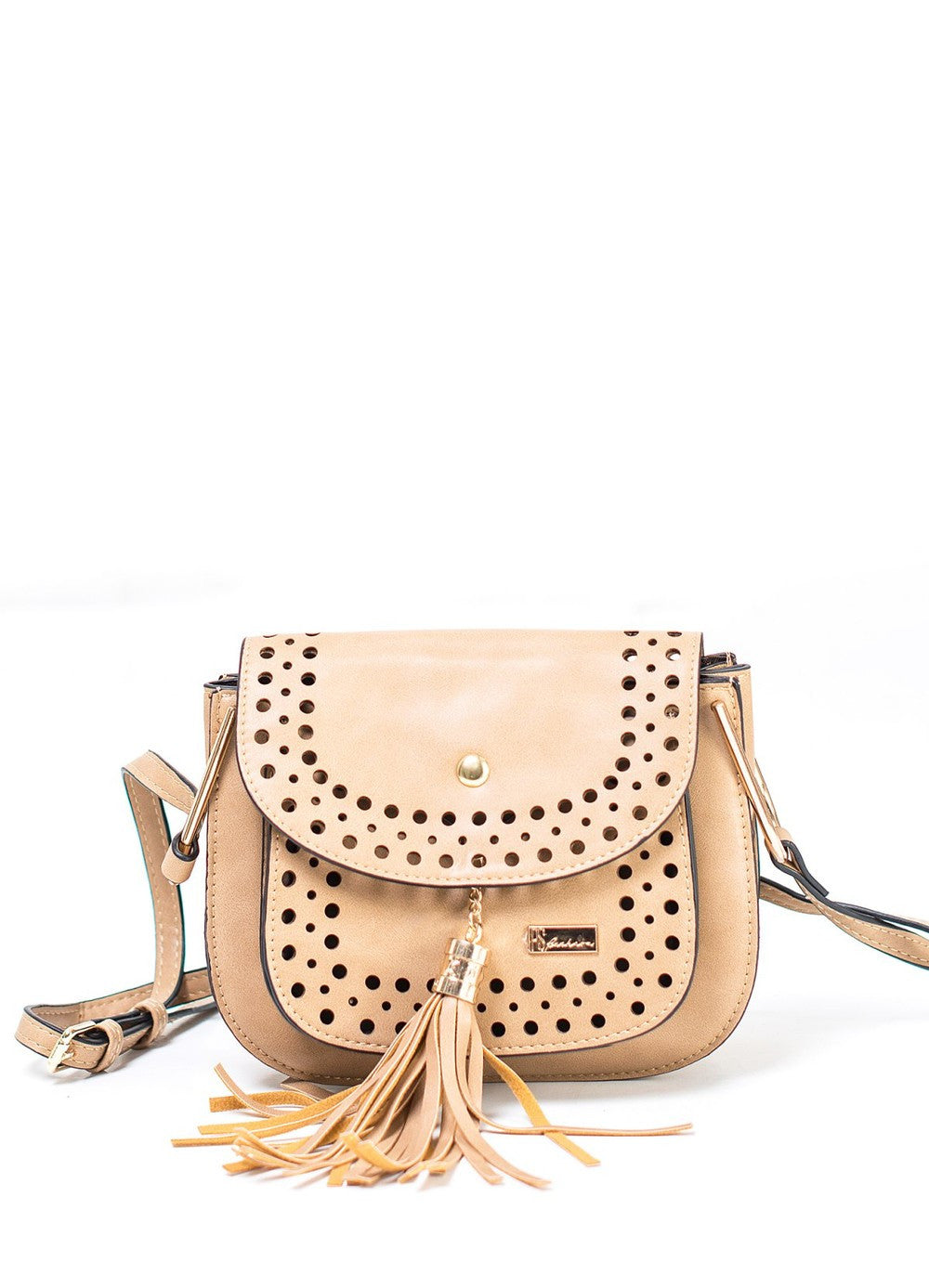 Beige Cross-body Bag