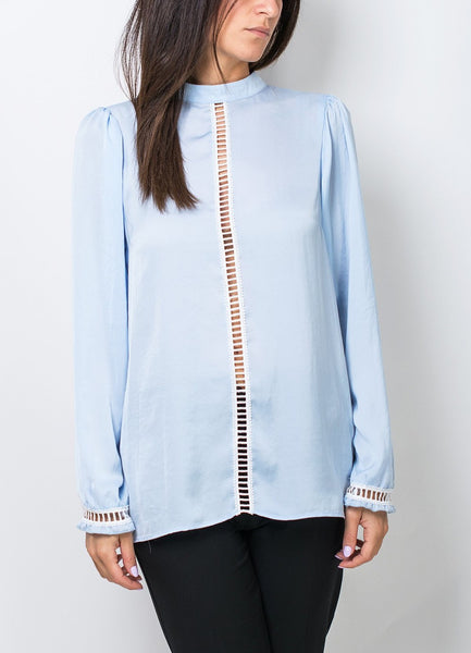 Light Blue Long Sleeved Blouse