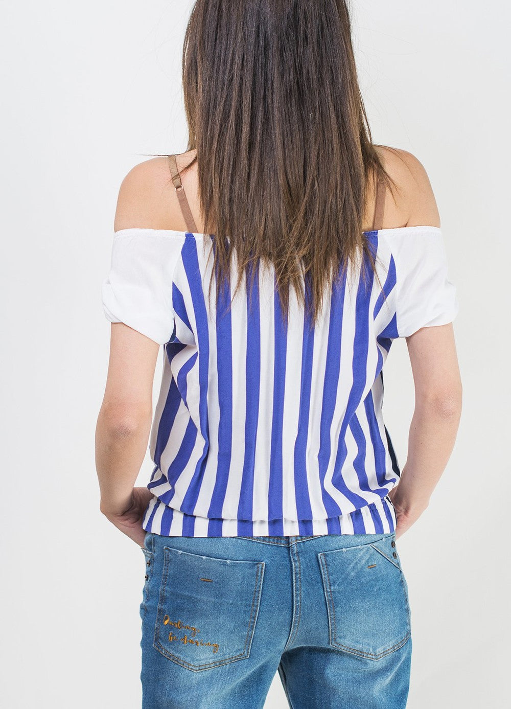 White & Blue Shirt