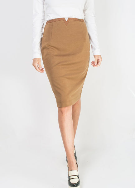 Camel Pencil Skirt