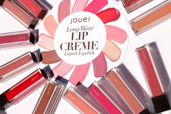 Jouer Cosmetics Long Wear Lip Crème Liquid Lipstick - Travel Sized - Doll Me Up Box