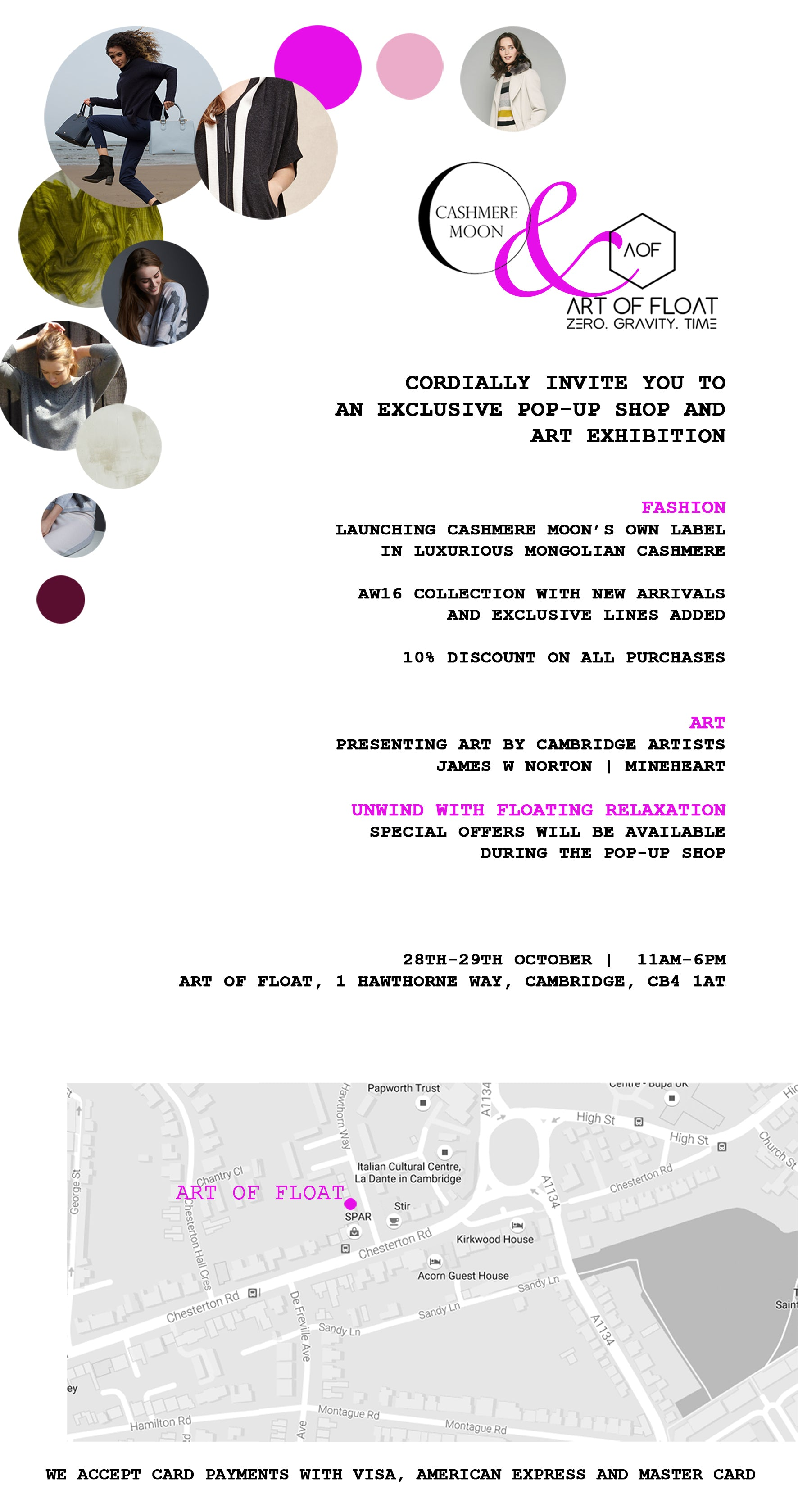 WE CORDIALLY INVITE YOU TO OUR EXCLUSIVE WINTER POPUP SHOP