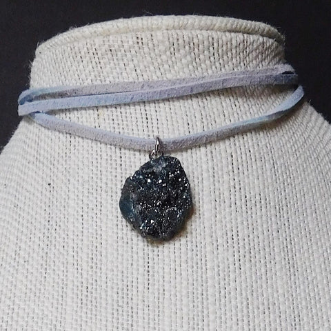 Slate Grey Stone Layered Necklace