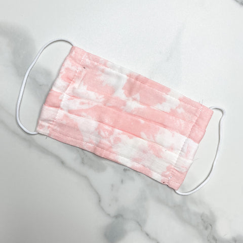 Pink Watercolor Face Mask