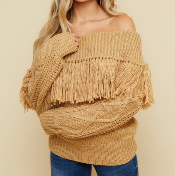 Show Stopper Fringe Sweater