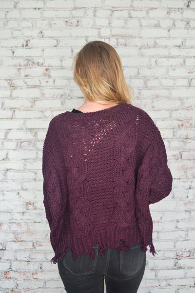Back to Plum Sweater
