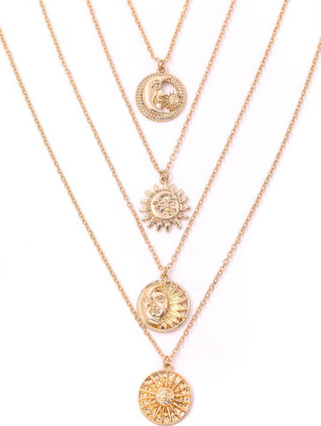 Sundial Necklace Set
