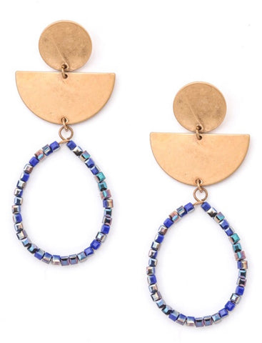 Seeking Inspo Earrings in Blue