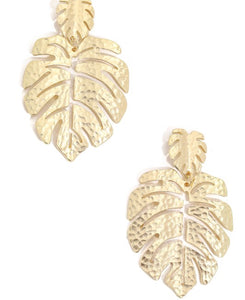 Leaf of Gold Earrings