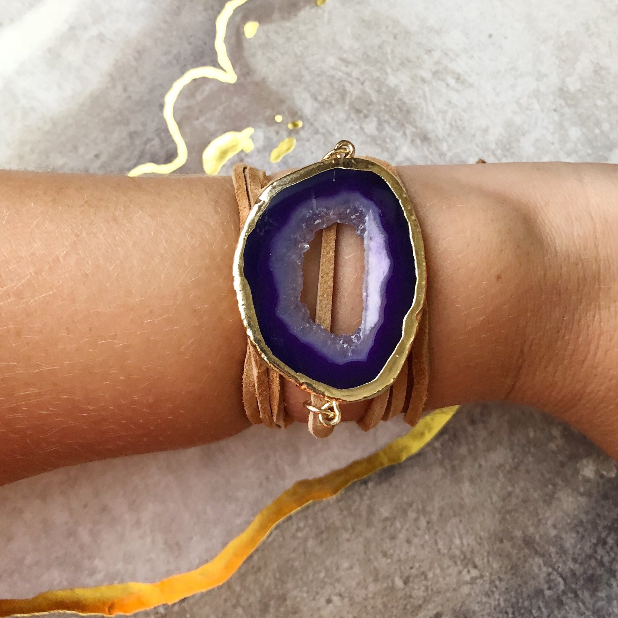Majestic Purple Wrap Bracelet