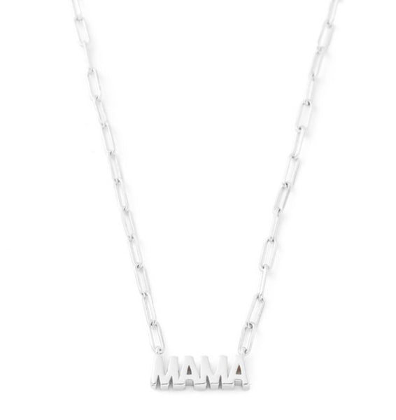Mama Block Letter Necklace