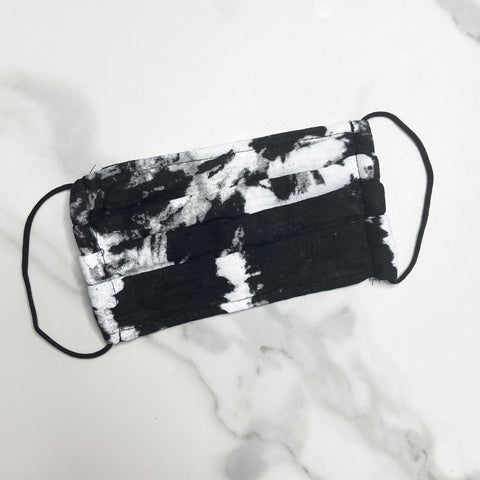 Black Marble Face Mask