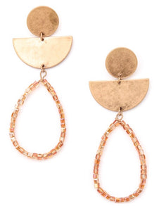 Seeking Inspo Earrings in Coral